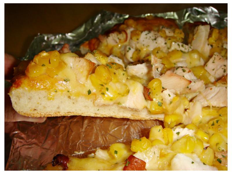 玉米燻雞披薩