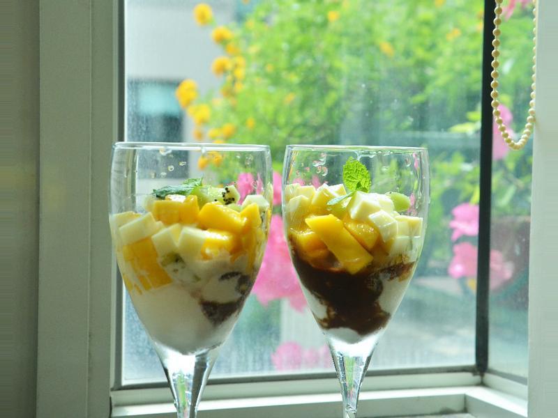 桂冠夏至涼拌-oh, my god水果豆腐冰淇淋