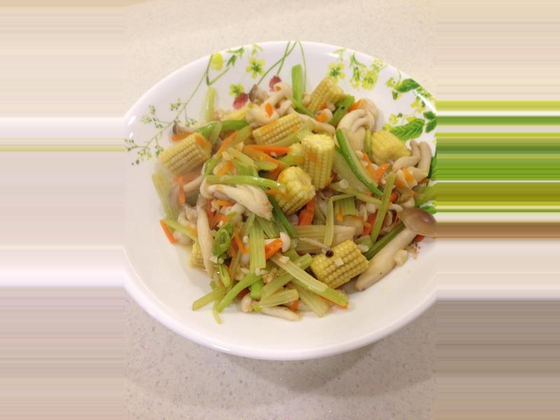凱蘿簡易小料理之10分鐘熱炒~芹菜炒鮮菇