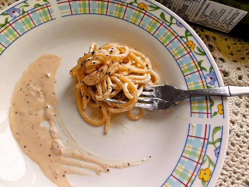 快速版的白醬義大利麵