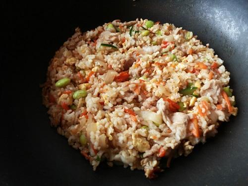 ♥ 鮮蔬肉片炒飯