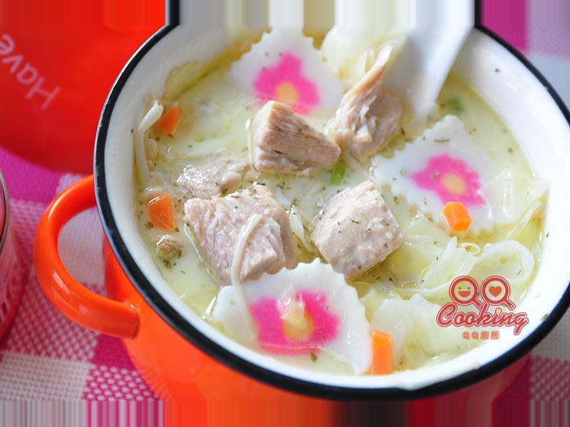 奶香鮪魚鮮蔬濃湯【高野家三A鮪魚塊】