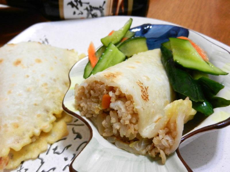 嫩餅皮菜飯團-淬釀中式下午茶點