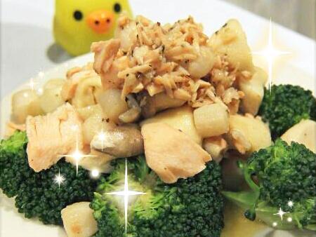 奶油干貝鮭魚