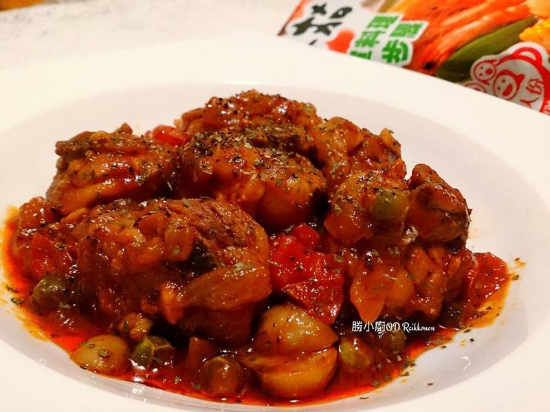 番茄蘑菇燉雞【可果美蕃茄火鍋高湯】