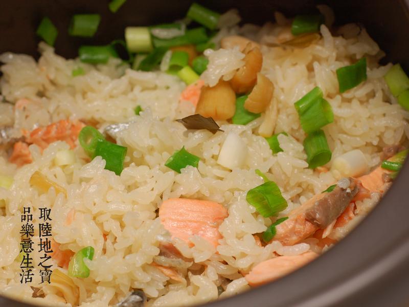 【陶鍋料理】和風鮭魚炊飯