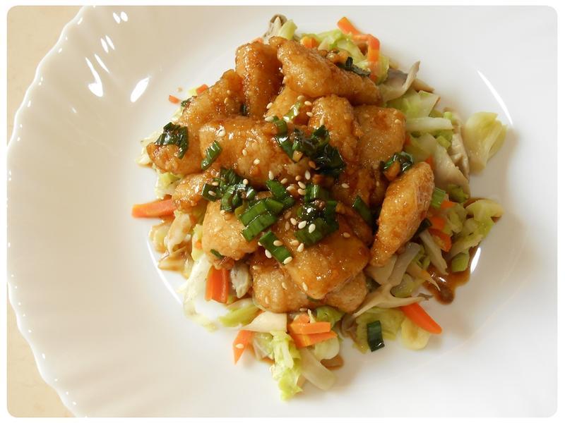 蒜香鯛魚鮮蔬飯