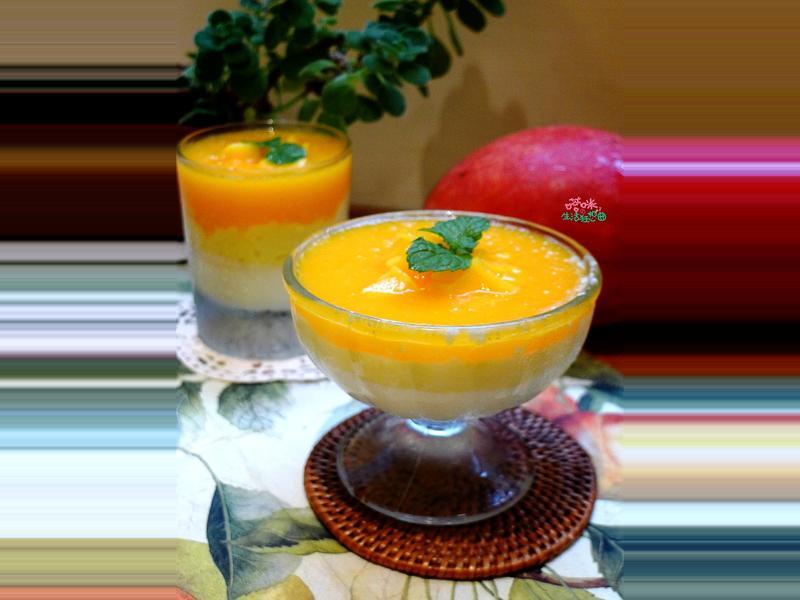 三色芒果冰沙奶酪