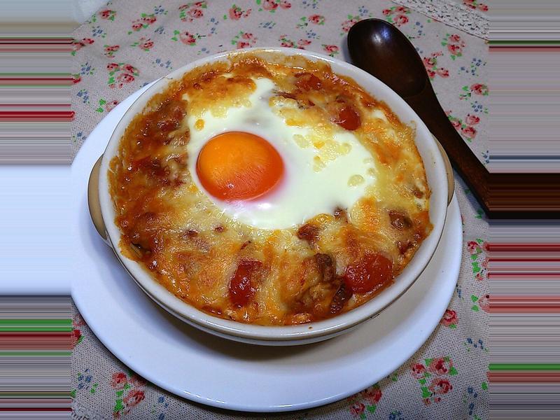【桔香醬油】蕃茄雞肉起司烤蛋
