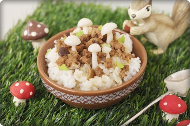 菇菇小森林肉燥飯!! 好童趣好有趣~