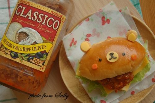 【Classico義利麵醬】小熊茄汁肉排漢堡