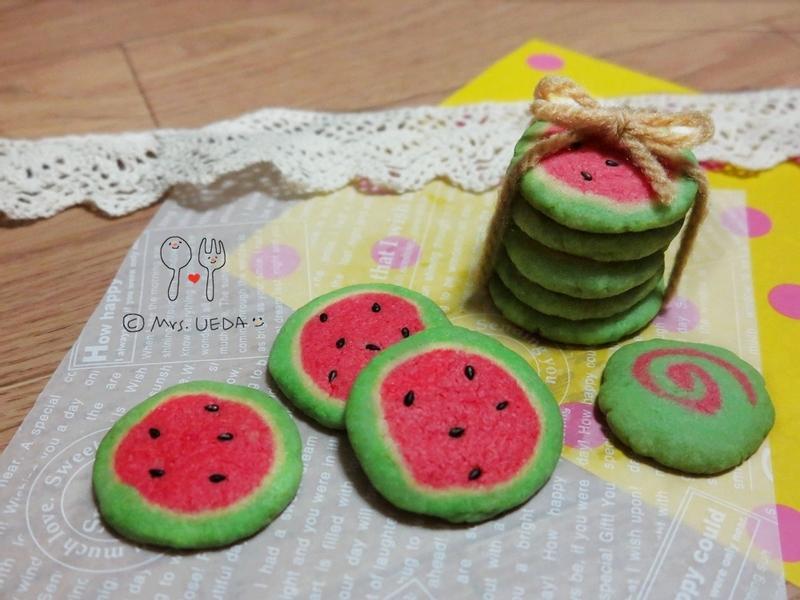 ♥可愛西瓜餅乾♥(上田太太愛料理)