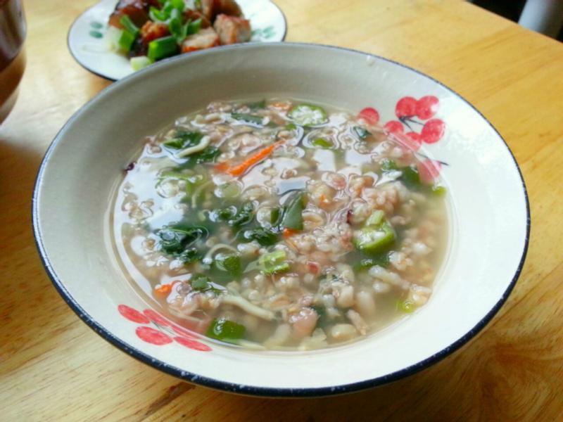 秋葵魩仔魚五穀粥