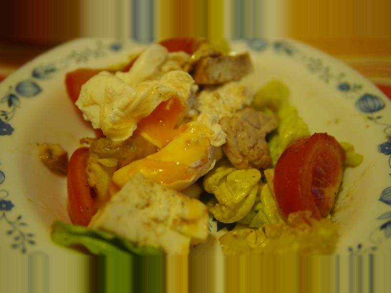 簡單又快速的水波蛋雞肉沙拉