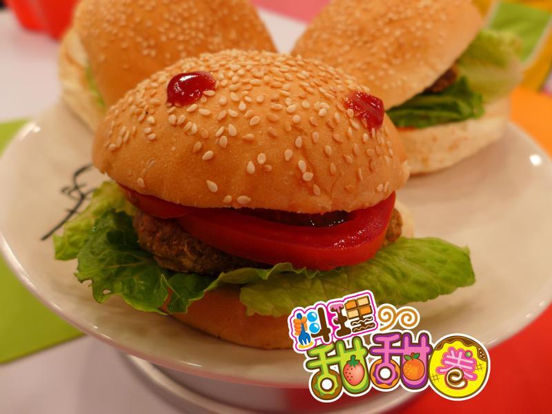 料理甜甜圈【低脂美味】豆腐漢堡