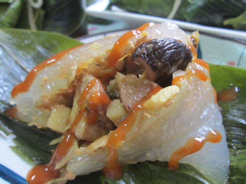 水晶(西谷米)雞肉粽