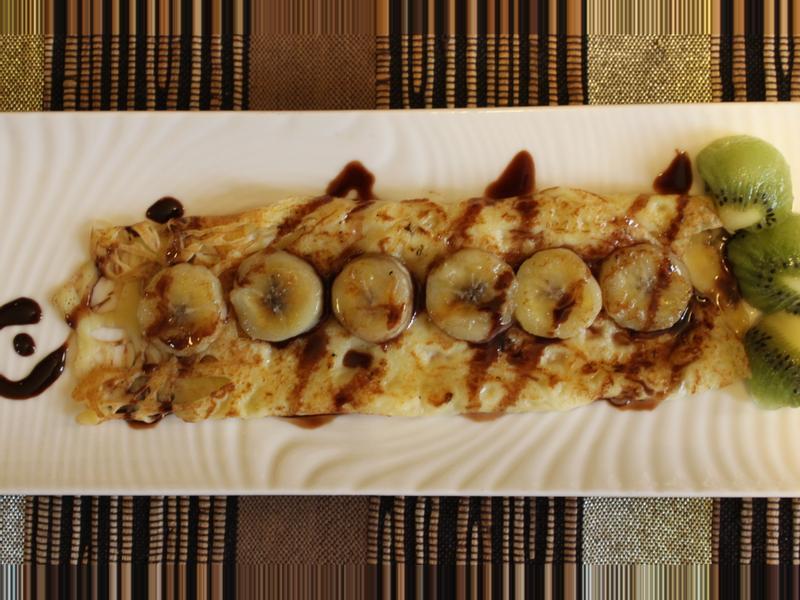 香蕉巧克力法式薄餅【味蕾周記】
