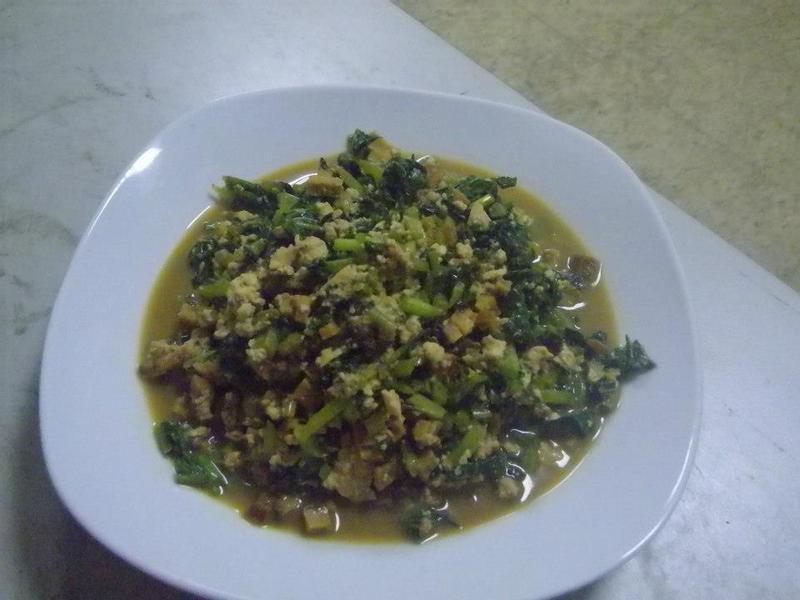 醬燒豆腐地瓜葉
