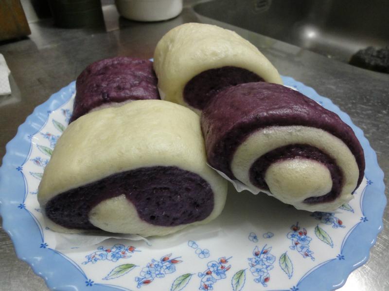 紫心 地瓜雙色 饅頭