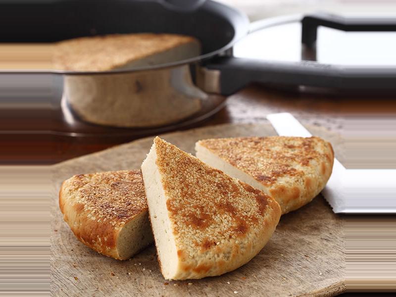 平底鍋作中式芝麻大餅