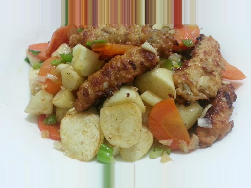 愛烹飪。五辛素鹹酥風味菜