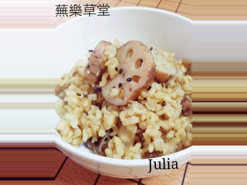 【仿西施●蓮藕胚芽糙米炊飯】