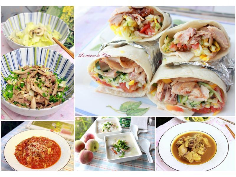 Costco烤雞腿--5種吃法
