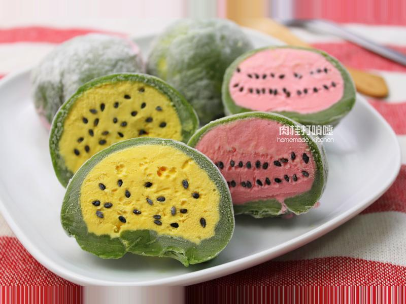 西瓜造型冰淇淋麻糬*Panasonic製麵包機
