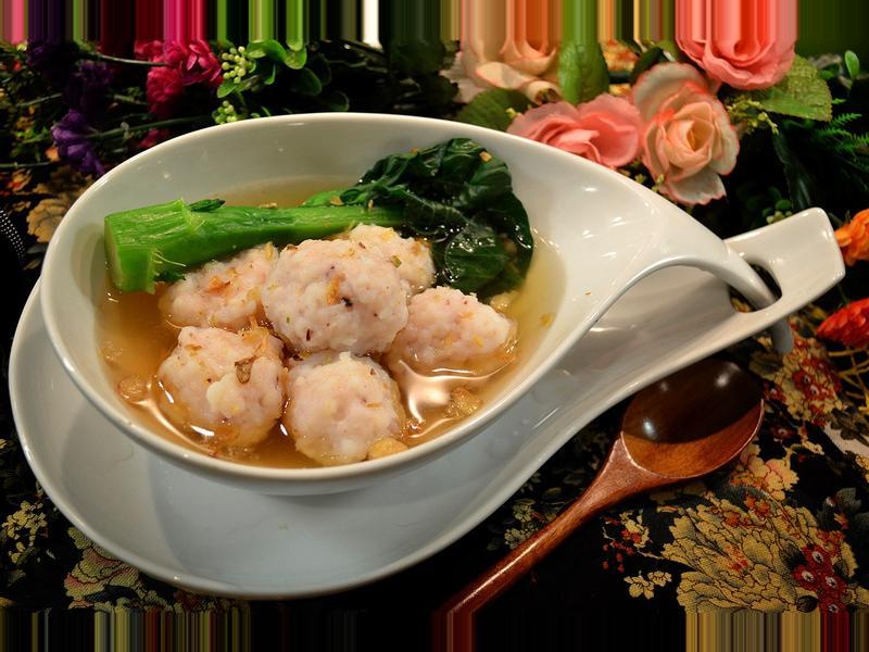 墨魚丸配鰹魚湯