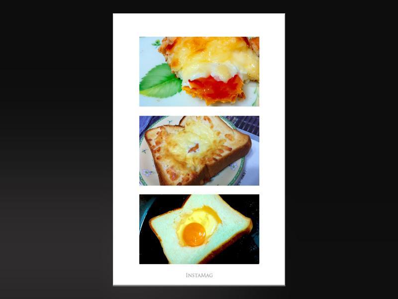 焗烤蛋厚片土司