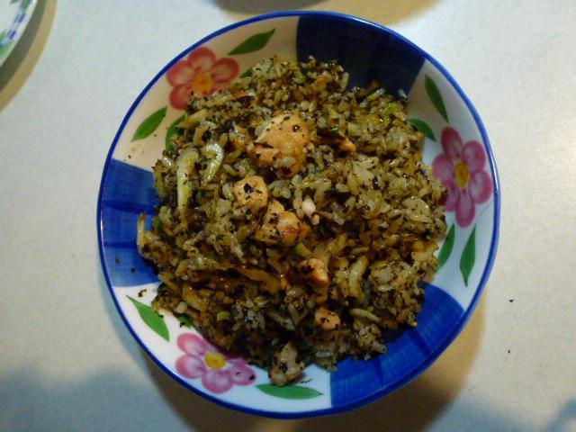櫻花蝦香椿炒飯