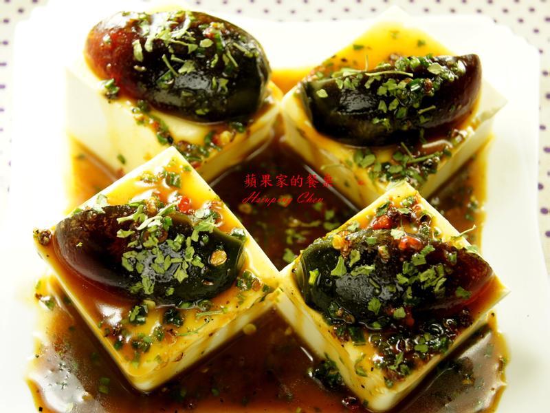 椒麻皮蛋豆腐