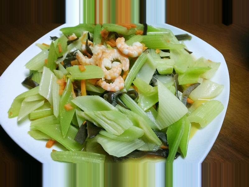 鮮蝦時蔬西洋芹
