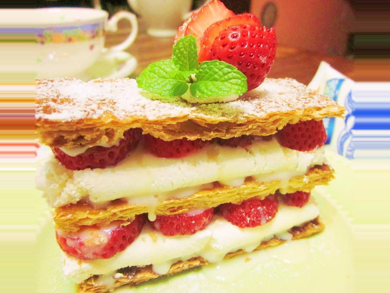 草莓千層酥