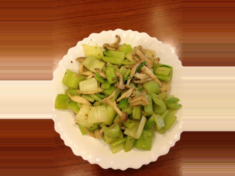 清炒西芹菇菇