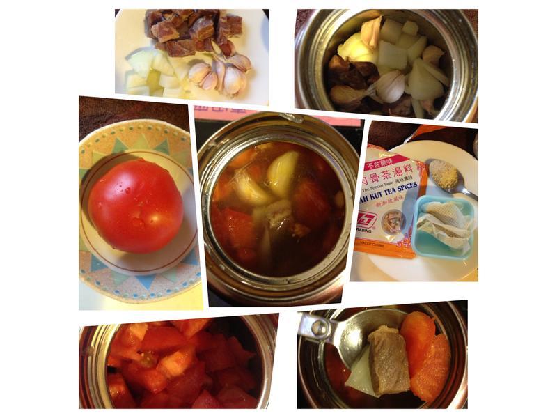 悶燒鍋料理-牛肉蕃茄洋蔥肉骨茶湯