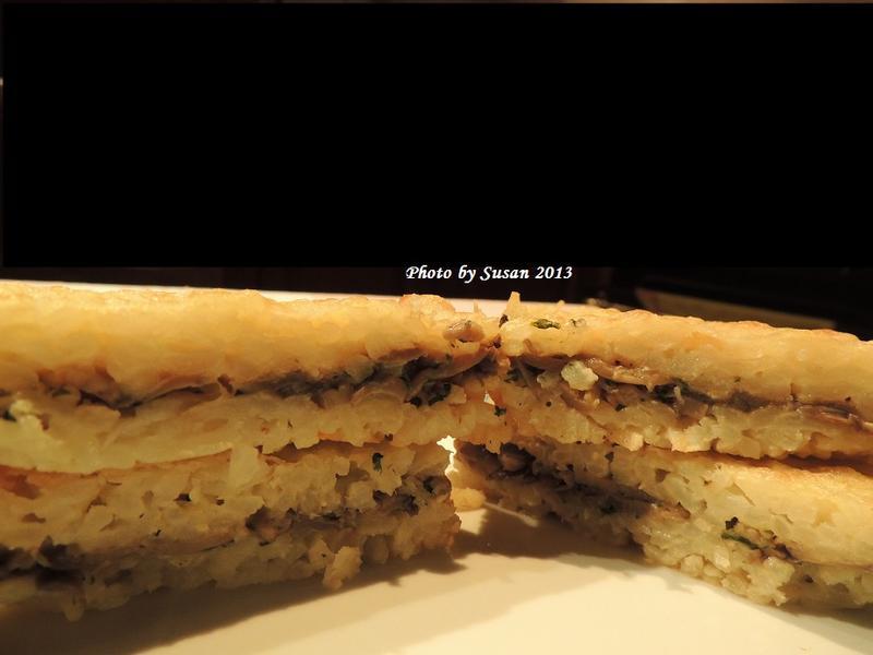 焗烤蘑菇米糕