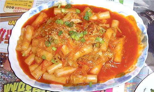 家常版(韓式泡菜炒年糕)