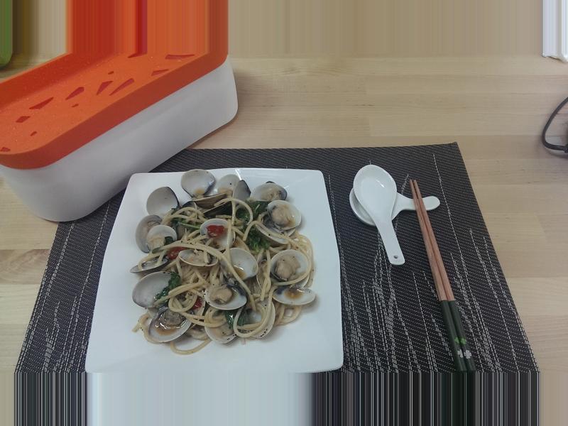 【LEKUE蒸煮盒系列】蛤蜊義大利麵