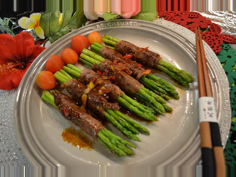 香煎蘆筍牛肉卷