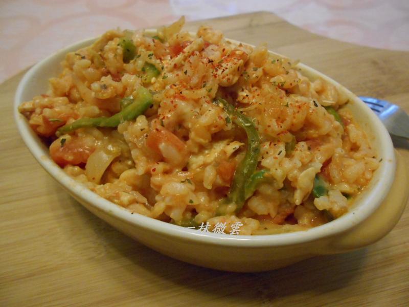 番茄起士燉飯(剩飯料理)