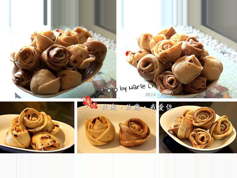 麵包機料理:浪漫的玫瑰饅頭