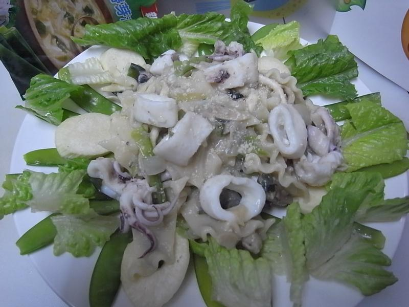 【康寶_就是醬美味】康寶銀魚海帶芽濃湯海鮮義大利麵