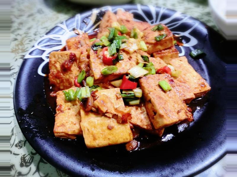 蔥辣醬燒豆腐