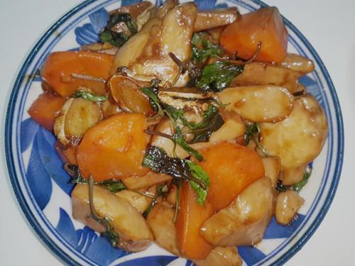 三杯杏鮑菇