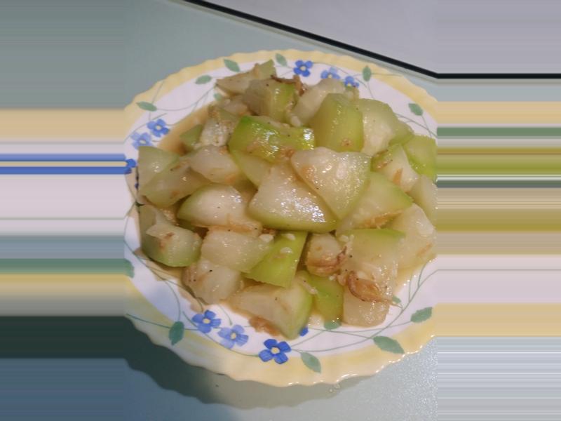 蝦米炒蒲瓜