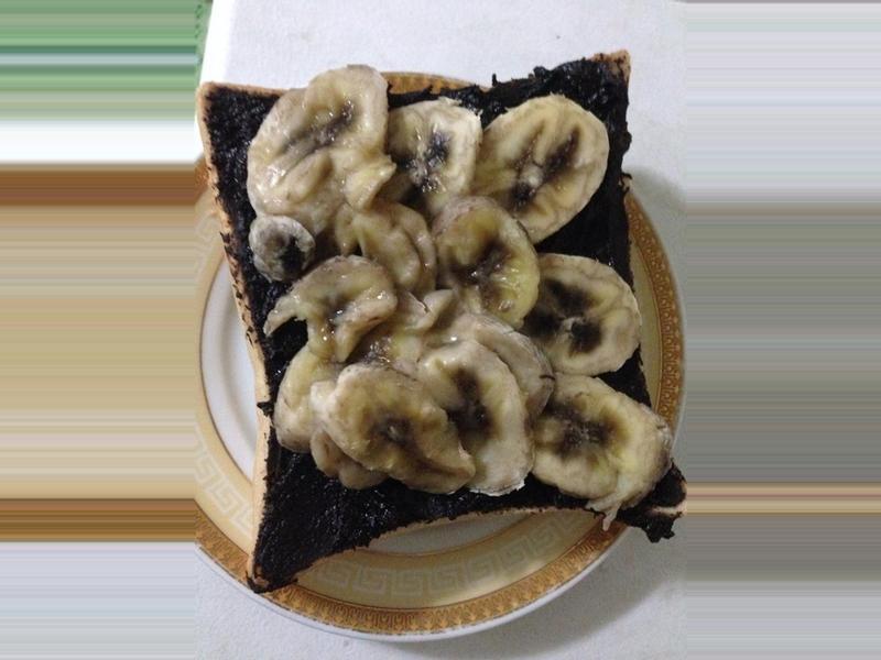 巧克力乳酪×香蕉 厚片