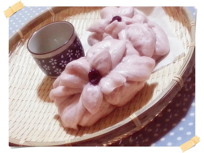 藍莓菊花花卷(造型包點)