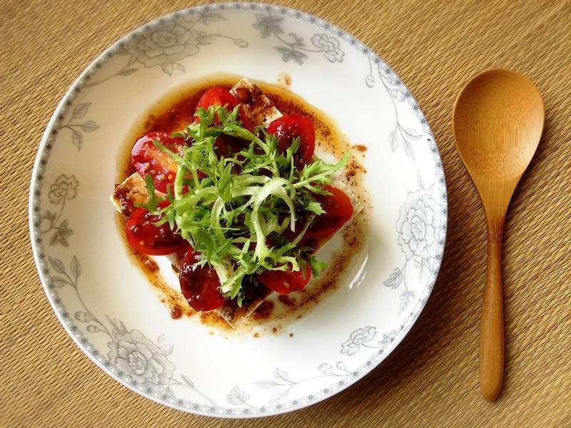 義式香醋油蔥冷豆腐