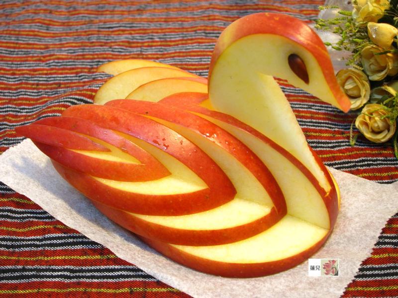 蘋果雕---天鵝(2)